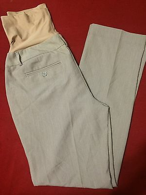 Womens Maternity Nude Over The Belly Heather Dress Pants Sz Small