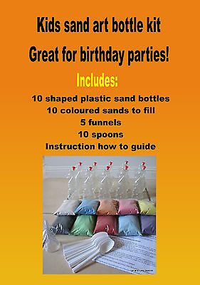 kids sand art bottles Seahorse shaped, x 10 great for under the sea party