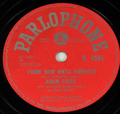 Schellackplatte - Adam Faith - What Do You Want / From Now Until Forever