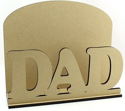 DAD Letter Mail Post Rack MDF  Daddy Birthday Gift Idea Father's Day