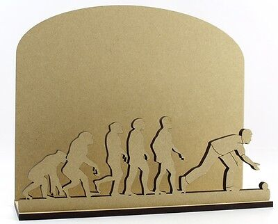 Bowls Letter Mail Post Rack MDF Sport Present Gift Idea Evolution of Man/Woman