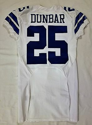 #25 Lance Dunbar Authentic Team Issued Dallas Cowboys Nike Jersey