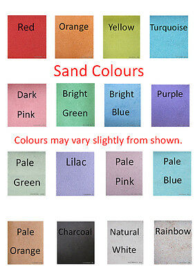 Coloured sand, 6 colours, Suitable for Wedding Ceremony, Kids Craft, Sand Art