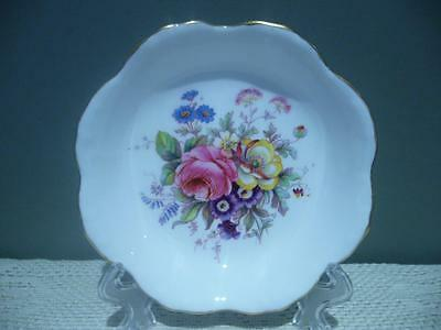 Royal Crown Derby England Lovely Floral Posy Butter / Trinket Dish - Vgc