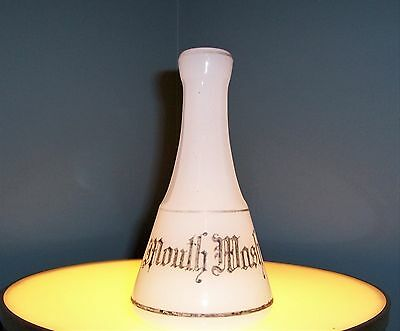 ANTIQUE MILK GLASS BARBER BOTTLE -- Mouth Wash