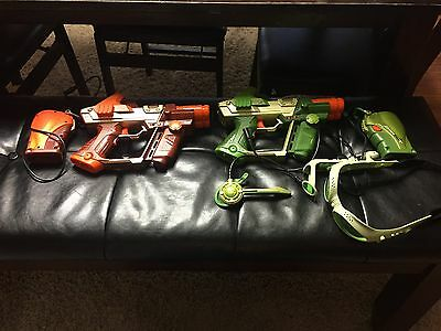 LAZER TAG 2 Guns and some other Stuff by Tiger Electronics Lot Hasbro
