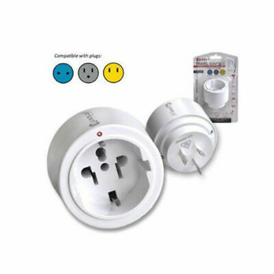 Sansai Travel Adaptor/Adapter Europe/Asia/USA to AU/NZ Power Plug/Outlet White