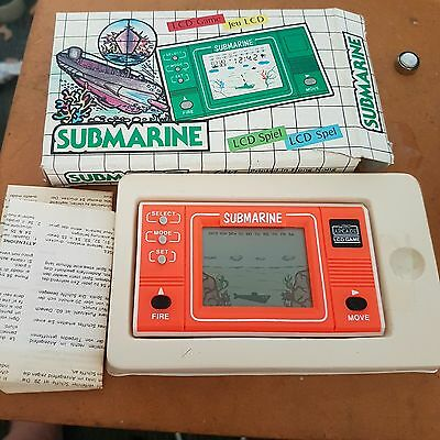 LCD SPEL handheld game - SUBMARINE -  RARE (in box)