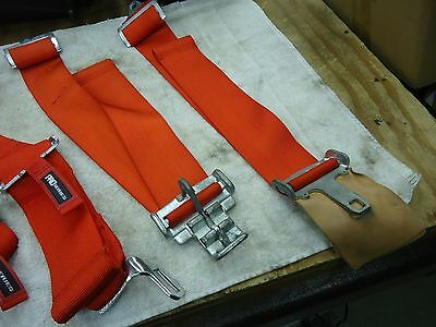 G Force  4 Point Racing Seat Belts   Red