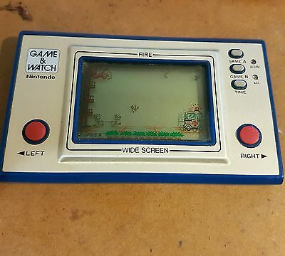 Nintendo Game & Watch - FIRE - 1981 works RARE