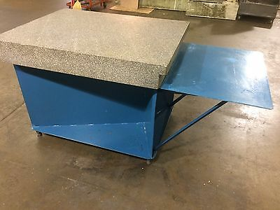 """36"""" x 48"""" x 6"""" Granite Surface Plate with Stand"""
