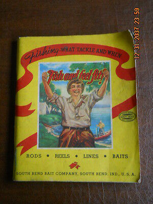 Old 1941 South Bend Fishing Tackle & Equipment Catalog