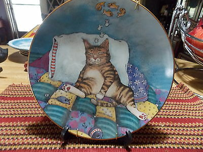 Danbury Exclusive Numbered with Certificate Gary Patterson Collector Cat Plate
