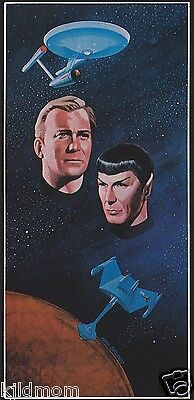 Vintage STAR TREK Door Poster by John Carlance, Dargis Associates, Inc 1976 NEW!