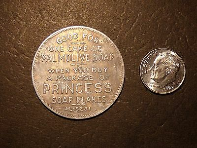 Palmolive soap token - Princess Soap Flakes - Palmolive Company of Canada