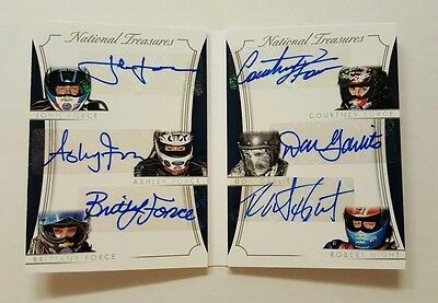 2016 National Treasures Racing 6 Autograph Nhra Force Family Booklet 09 /49 Wow