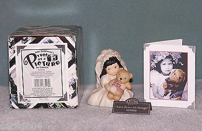 """Kim Anderson's Pretty As A Picture...""""love Bears All Things"""" Figurine"""