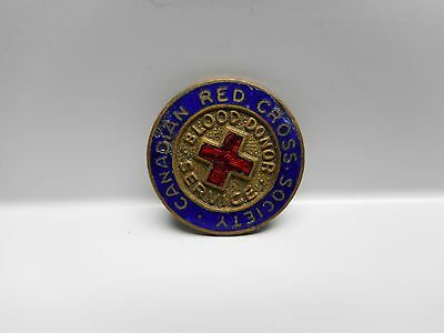 Vintage -  CANADIAN RED CROSS SOCIETY - BLOOD DONOR SERVICE Lapel Pin