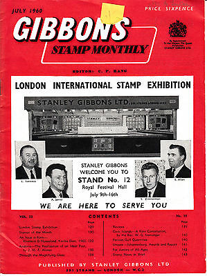 Gibbons Stamp Monthly July 1960 Stamp Collectors Montly Magazine Philatelists