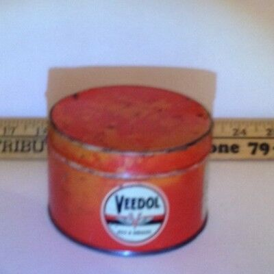 Veedol Vintage Oils & Grease Can Rare Gasoline Collectible Oil Advertiser 1940s