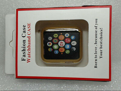 NEW Waloo Slim Case w/ Screen Protector for Apple Watches 42mm Gold