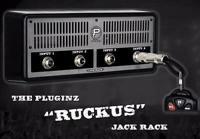 Plug-Inz Jack Rack Ruckus Guitar Amplifier Jack 4 Input Plug Key Holder
