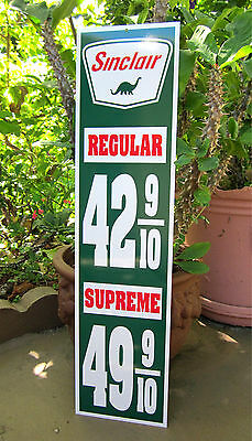 Sinclair Gas Price Sign Dino Supreme Gas Service Station Sign Gasoline Motor Oil