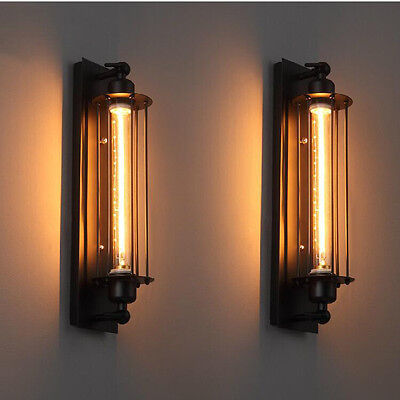 Industrial Loft Long Steampunk Wall Sconce Plate Lamp Retro Vintage Lighting