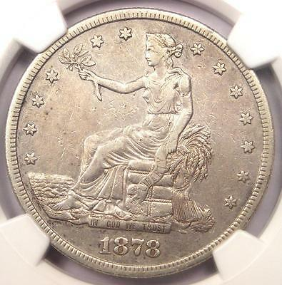 1878-S Trade Silver Dollar T$1 - NGC XF Details (EF) - Rare Certified Coin!