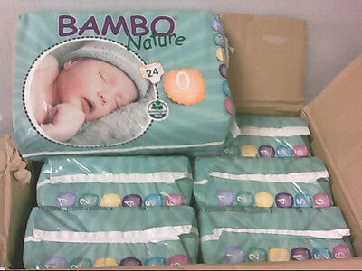 NEW 144pc Bambo Premature Nappies for 2-6lbs / 1-3kg Babies $68