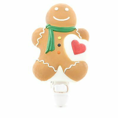 Gingerbread Boy Hand Painted Molded Marble Night Light by Ibis and Orchid