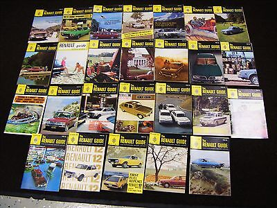 Lot of 26~Automotive Brochure- The Renault Guide 1968-1970