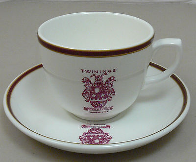 MINT Twinings Cup and Saucer, Wedgwood Metallised Bone China, Made in England