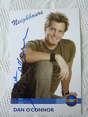 NEIGHBOURS FAN CARD  Dan O'Connor  plays Ned Parker .SIGNED New