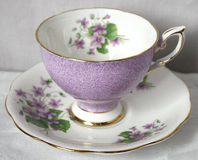 Royal Standard Violet Cup and Saucer RSD38 VGC