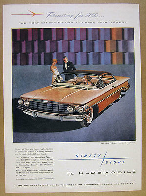 1960 Oldsmobile Ninety-Eight Holiday SceniCoupe car photo vintage print Ad