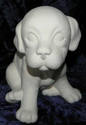 Ceramic Bisque Ready to Paint Sitting Jess the Puppy
