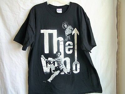 """Black """"The Who"""" band t-shirt, size 2XL, with 2 band members"""