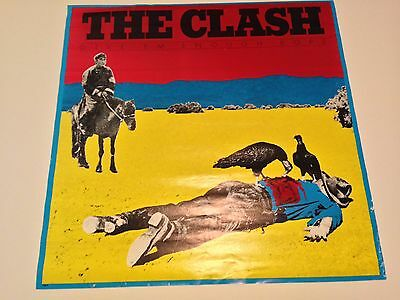 Clash Give Em Enough Rope Promo Poster Display Pistols Ramones Punk Guitar