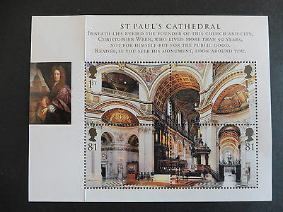 GB stamps - 2008 St Paul's Cathedral Minisheet MUH