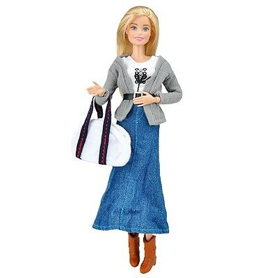 Doll Clothes Shirt Coat Dress Outfit Handbag Boots Accessory for Barbie Dolls S