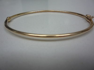 new 9ct yellow gold narrow bangle plain made in italy lightweight
