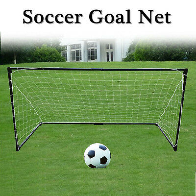 Brand New Soccer Goal Metal Steel Frame With Football Net NO Ball AU Stock Large