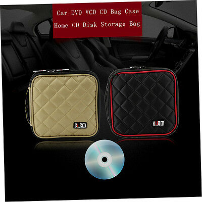BUBM 32 Disc Universal Car DVD VCD CD Bag Case Home CD Disk Storage Bag DE