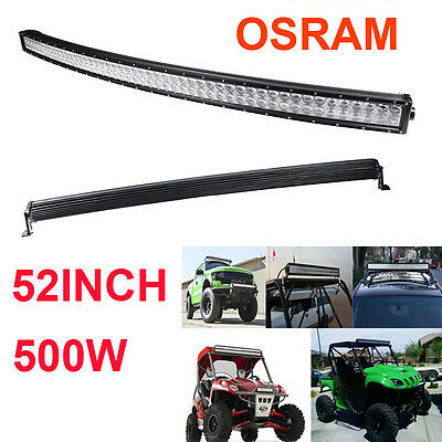 500W 52 Inch Curved LED Combo Work Light Bar Offroad Driving 4WD Truck ATV Xmas!