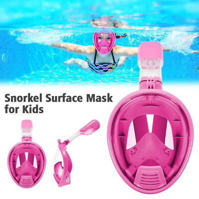Swimming Snorkeling Full Face Diving Mask Snorkel Scuba for GoPro S/M Size Black