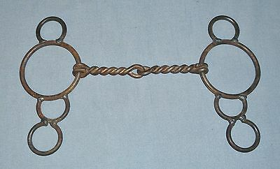 """Hand Made Welded Twisted Wire Snaffle Gag Bit 5 1/2"""" Mouth Horse Tack"""