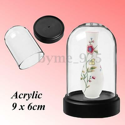 Acrylic Clear Box Bell for Product Show Toy Display Case Toys Dustproof 60x90mm