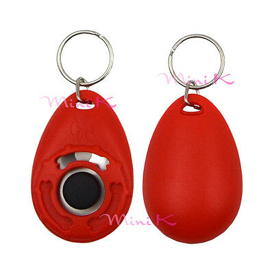1pc Red Click Pet Dog Puppy Clicker Training Trainer Obedience Aid Teaching