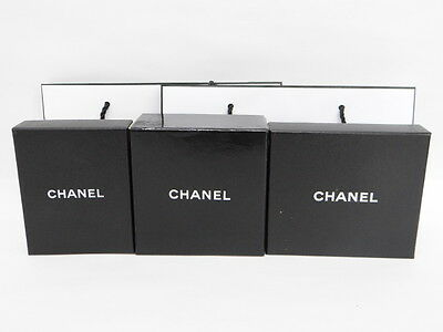 Auth CHANEL Empty Gift Boxes Paper Bags 5 Set Free Shipping 98130062900 t18F